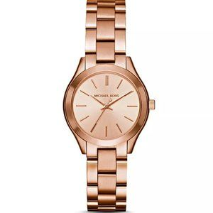 Michael Kors Mini Slim Runway Rose Gold Watch